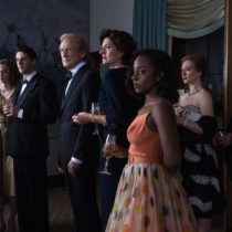 Eleanor Tomlinson as Mary Argyll, Matthew Goode as Philip Durrant, Bill Nighy as Leo Argyll, Anna Chancellor as Rachel Argyll and Crystal Clarke as Tina Argyll